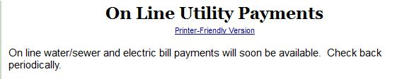 Utility payment later